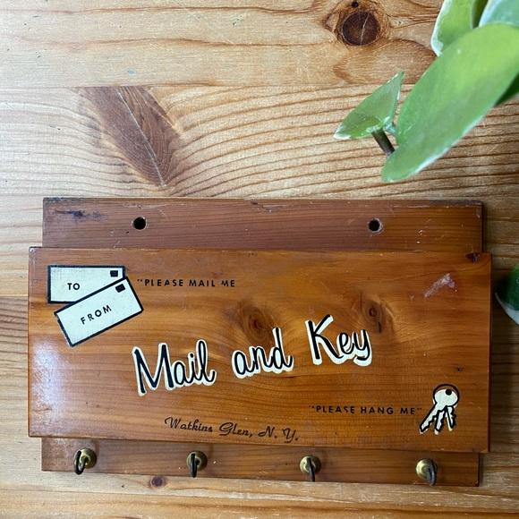 Vintage Mail and Key Holder